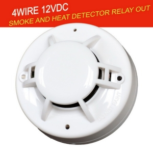 4Wire Smoke and heat Detector with Relay out
