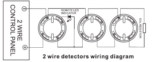 2 wire smoke detector