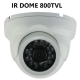 Vandalproof IR Dome Camera 800TVL